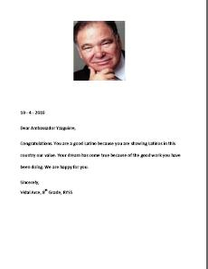 Congratulations Letters To Ambassador Raul Yzaguirre